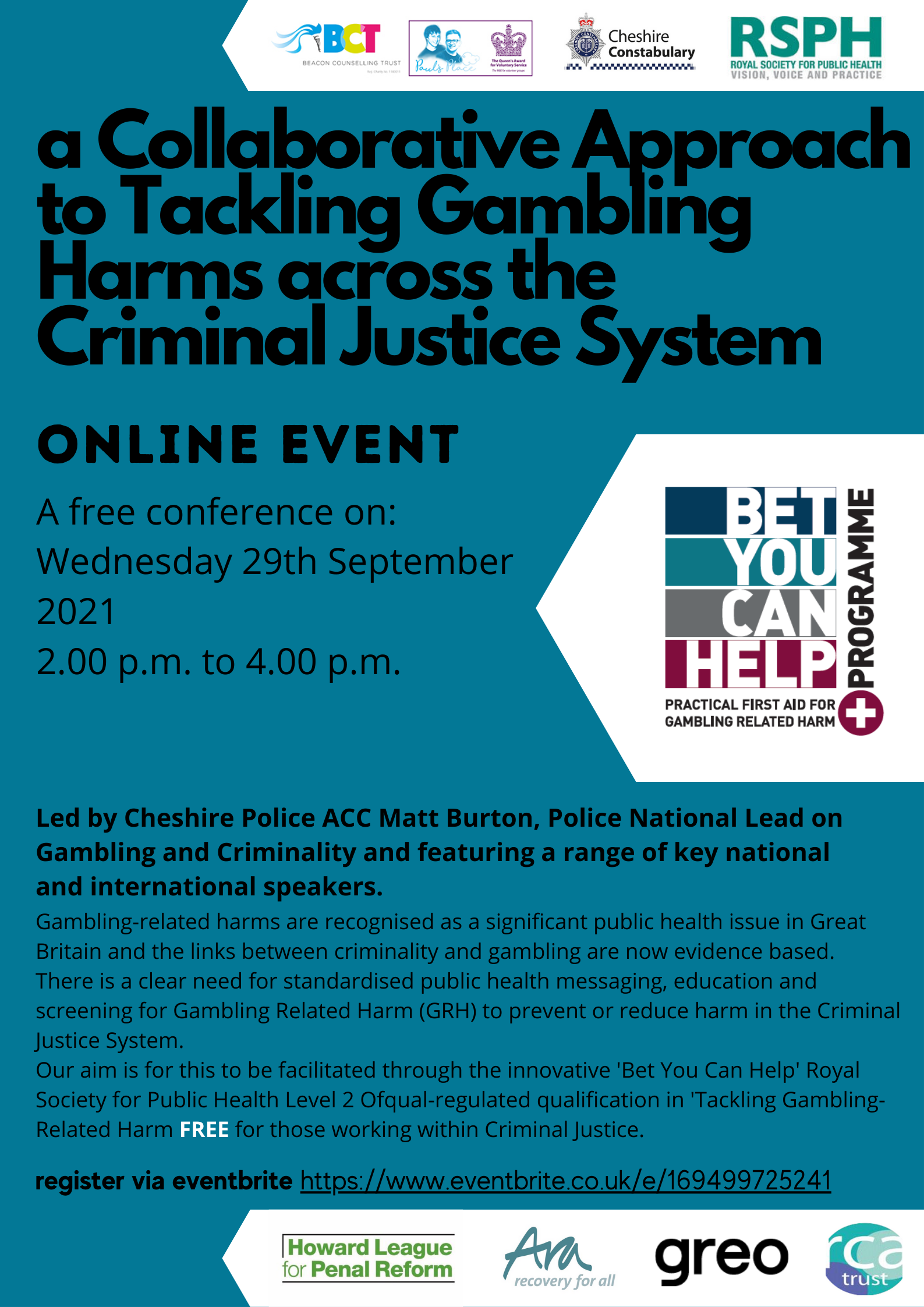 A Collaborative Approach to Tackling Gambling Harms across the Criminal Justice System
